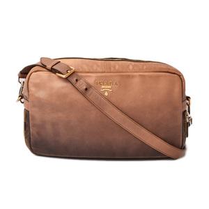 Prada shoulder bag clutch 2way PRADA vintage gradient brown beige