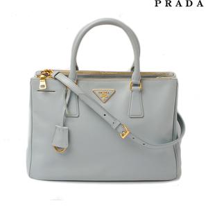 Prada handbag shoulder bag PRADA BN2274 Safiano LAGO light blue 2way with strap