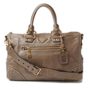 Prada Handbag Shoulder bag PRADA vintage leather Gurege 2way with strap