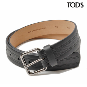 Tods belt TOD'S embossed leather black XCMCPU20100DOUB 999 size 90