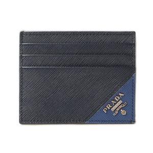 Prada card case business holder PRADA 2MC223 SAFFIANO SASSIA embossed leather BALTICO BLUE navy blue