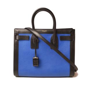 Saint Laurent Handbag Shoulder Bag SAINT LAURENT Classic Mini Sac De Jules Black Blue 355153 2way