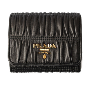 Prada wallet PRADA 3-fold 1MH176 NAPPA GAUFRE Nappa NERO black