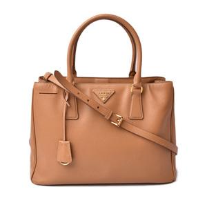Prada handbag shoulder bag 2way PRADA Galeria SAFFIANO Safiano light brown 1BA274