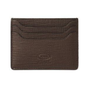 Tod's Card Case Business Holder TOD'S Men's Leather Dark Brown XAMAAF200