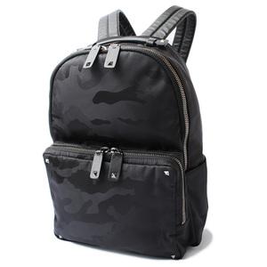 Valentino Backpack Rucksack VALENTINO Rock studs camouflage printed nylon leather men's