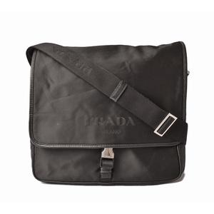 Prada shoulder bag men's PRADA TESSUTO test black BLACK