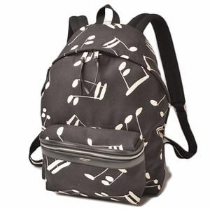 Saint Laurent Backpack Rucksack SAINT LAURENT Canvas Musical Note Men's Bag 435988