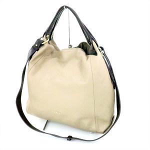 Furla 2way Women's Leather Shoulder Bag Beige