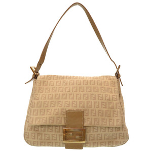 Fendi Zucca Pattern Zucchino Manma Bucket Canvas Shoulder Bag 0049 FENDI