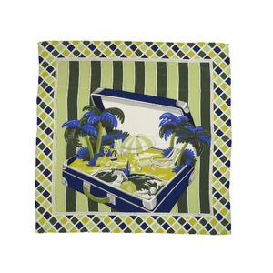 Loewe Trunk 100% Silk Green Scarf 0122 LOEWE