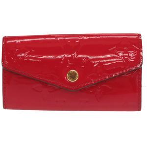 Louis Vuitton Monogram Vernis Multicure 4 M90907 Slys series key case red 0317 LOUIS VUITTON