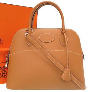 Hermes Bored 31 Vaux Chamonix Natural Gold Hardware □ G stamped Handbag Bag Brown 0152 HERMES