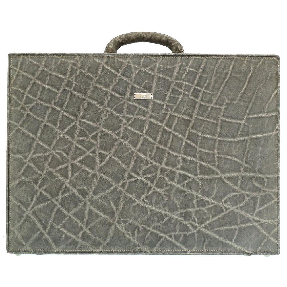 Valextra Elephant Gray Business Bag Attache Case 0112 Valextra Men