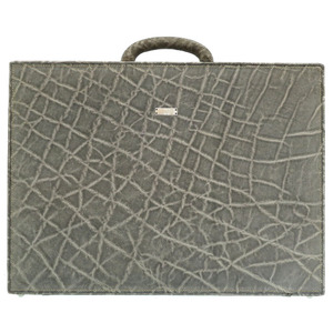Valextra Elephant Gray Business Bag Attache Case 0112 Valextra Men
