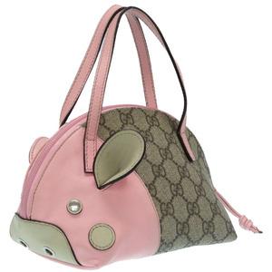 Gucci Pig Motif Kids Zoo GG Plus Pink 271093 Handbag 0326 GUCCI