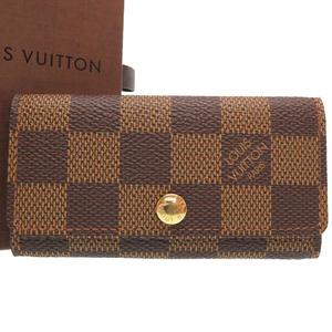 Louis Vuitton Damier Multicure 4 N62631 series key case LV 0348 LOUIS VUITTON