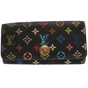 Louis Vuitton monogram multi-color multe ticle 4 noir M93732 series key case black LV 0347 LOUIS VUITTON
