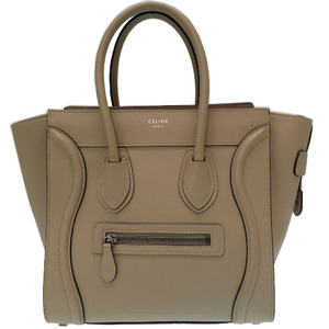 Celine Luggage Micro Shopper Beige 167793 DRU. 03UN Handbag Bag 0298 CELINE