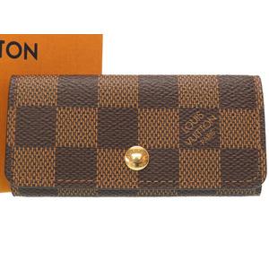 Made in 2018 Louis Vuitton Damier Multicure 4 N62631 series Key Case LV 0343 LOUIS VUITTON