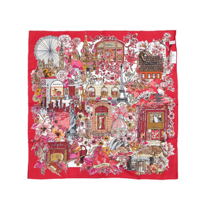 Salvatore Ferragamo FO Boutiques 31 7873 silk red scarf 0150 Salvatore