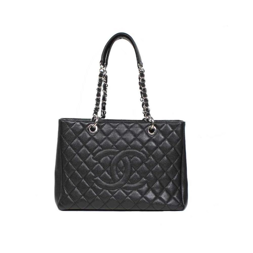 Chanel CHANEL GST bag A50995 caviar skin black tote women