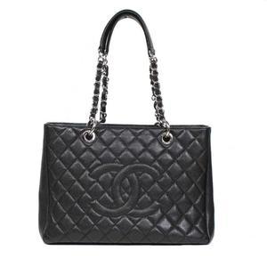 シャネル(Chanel) シャネル CHANEL GSTバッグ A50995 キャビアスキン ブラック トートバッグ レディース