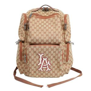 Gucci GUCCI LA Angels Patch Large Backpack 552872 GG Canvas Men