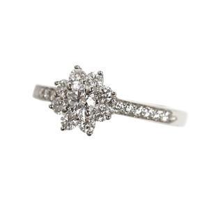Tiffany & Co. TIFFANY CO Floral Ring Platinum Diamond Women's Jewelry