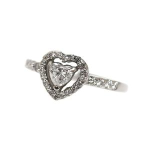 Heart Ring Platinum Diamond D0.314 0.30 Ladies Jewelry Accessories Finished