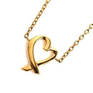 Tiffany TIFFANY & CO Paloma Picasso Loving Heart Pendant K18YG Women's Necklace Jewelry Finished