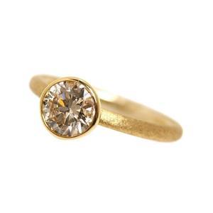 Brown Diamond Ring K18YG BD1.184 Womens No.12 Jewelry