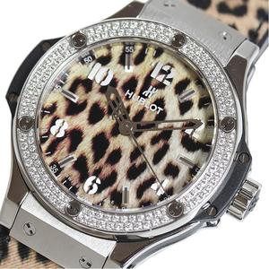Hublot HUBLOT Big Bang Leopard 391.SX.7710.NR.1104.JLE14 Diamond Bezel Quartz Women's Men's Watch