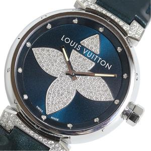 Louis Vuitton Tambour Forever GM Q111L Diamond Quartz Mens Watch LOUIS VUITTON