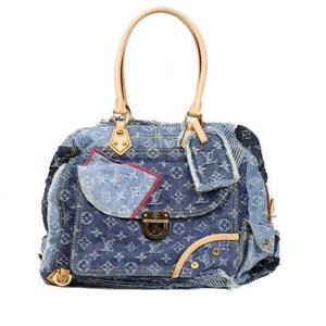 Louis Vuitton Monogram Denim Patchwork Bowley M95376 Handbags Women LOUISVUITTON