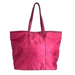 Prada PRADA nylon tote bag leather pink women