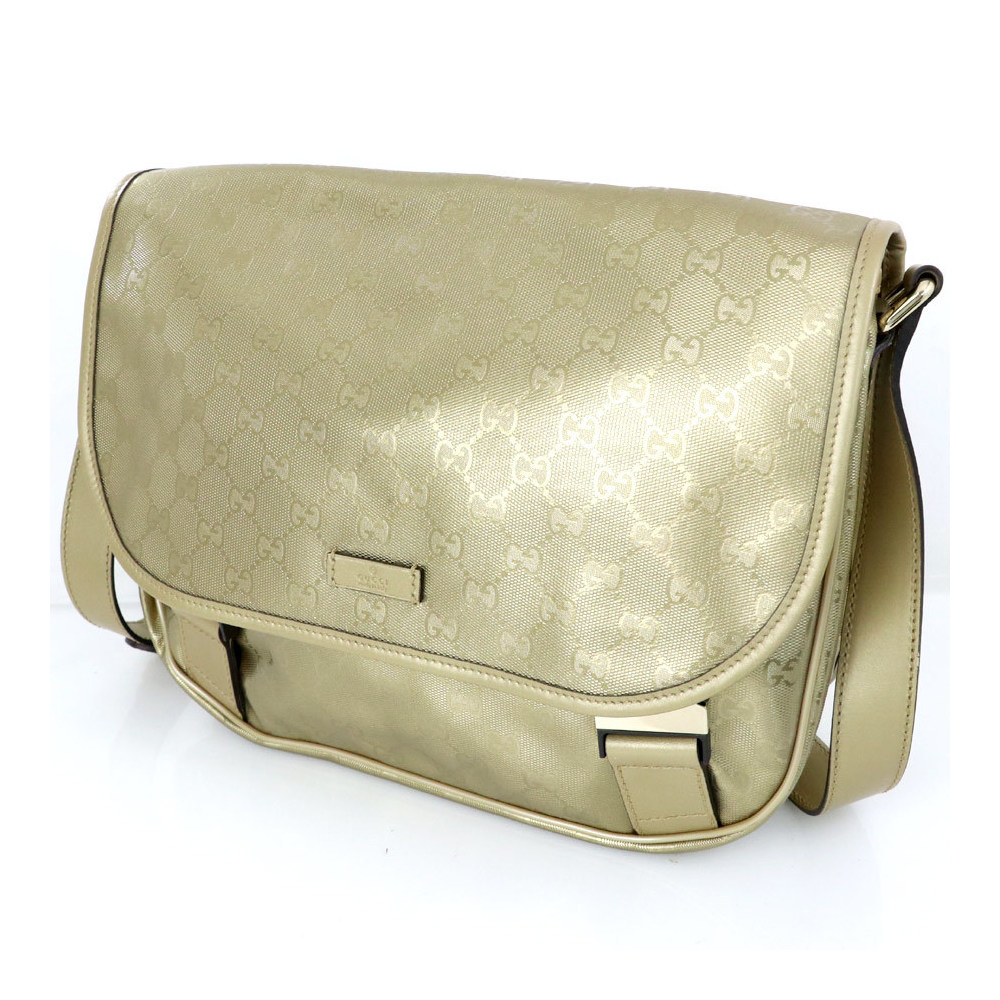 5b0f40843f43 Gucci GUCCI GG pattern Bronze khaki PVC leather implication messenger bag  201732 shoulder Women | eLady.com