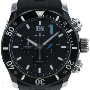 エドックス EDOX クロノオンショア1 クロノグラフ 10020-3-NBU 自動巻式 ブラック ブルー 文字盤: 2針式 メンズ 腕時計 【sg af】
