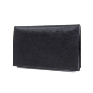 Valextra Women's Business Card Holder Leather Black Case 20190621