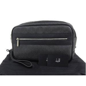 ダンヒル(Dunhill) dunhill ダンヒル PVC レザー メンズ セカンドバッグ クラッチ 黒 ブラック   20190621