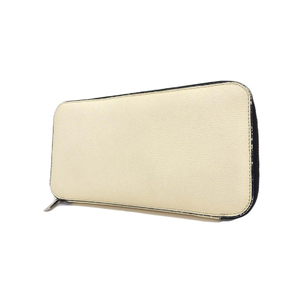 Valextra round zipper long wallet leather white 20190628