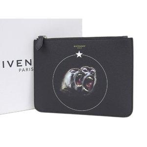 ジバンシィ(Givenchy) 同様GIVENCHY ジバンシィ モンキーブラザーズ クラッチバッグ レザー ブラック 黒 ポーチ   20190621