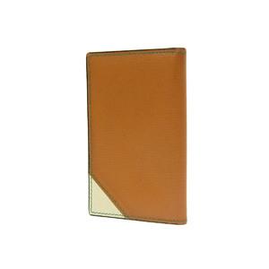 Valextra Bicolor Business Card Holder Leather Camel Ivory Case 20190628