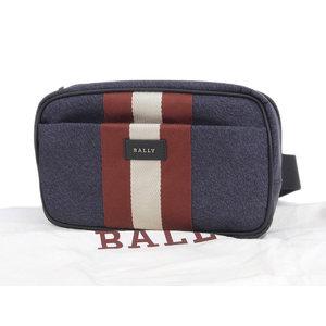 バリー(Bally) 同様BALLY バリー QUINNY クイニー ストライプライン メンズ ウエストポーチ ナイロン ネイビー 紺 ボディバッグ   20190621