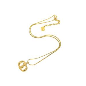 クリスチャン・ディオール(Christian Dior) Christian Dior クリスチャンディオール CDロゴ レディース ネックレス ゴールド 金 ペンダント 43cm   20190628