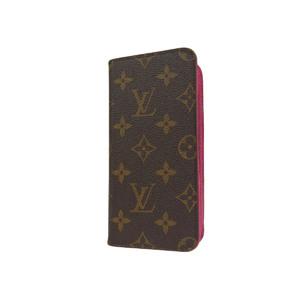ルイ・ヴィトン(Louis Vuitton) LOUIS VUITTON ルイヴィトン フォリオ モノグラム iPhone7+ケース アイフォン ローズ ピンク M63401    20190628