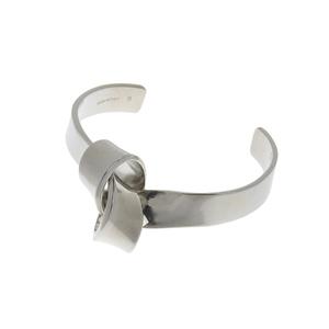 CELINE Celine knot flat bangle silver bracelet 20190628