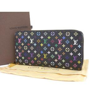 LOUIS VUITTON Louis Vuitton Zippy Wallet Monogram Round Fastener Purse Noir Grenard M60243 20190628