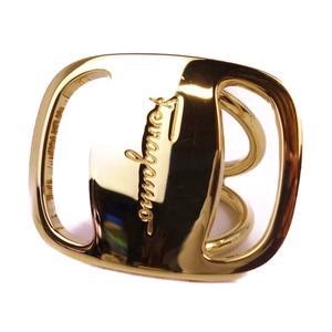 Salvatore Ferragamo Vala Scarf Ring Ladies Gold Italian Accessories