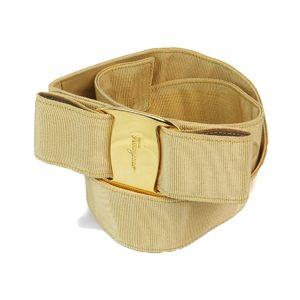 Salvatore Ferragamo Made in Italy Ladies Vala belt M nylon yellow